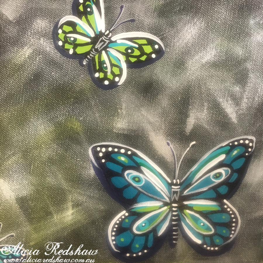 Daily Inspiration – Butterfly Canvas by Alicia Redshaw