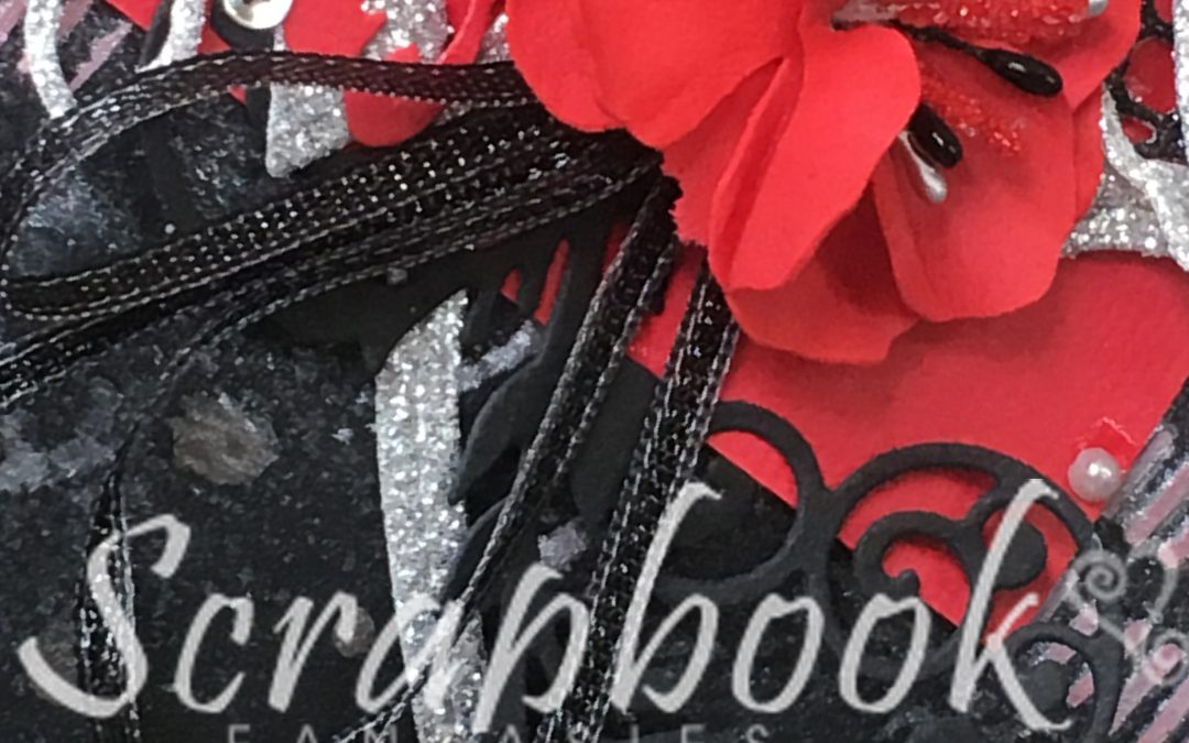Black, Red & Silver Scrapbooking Class with Alicia Redshaw
