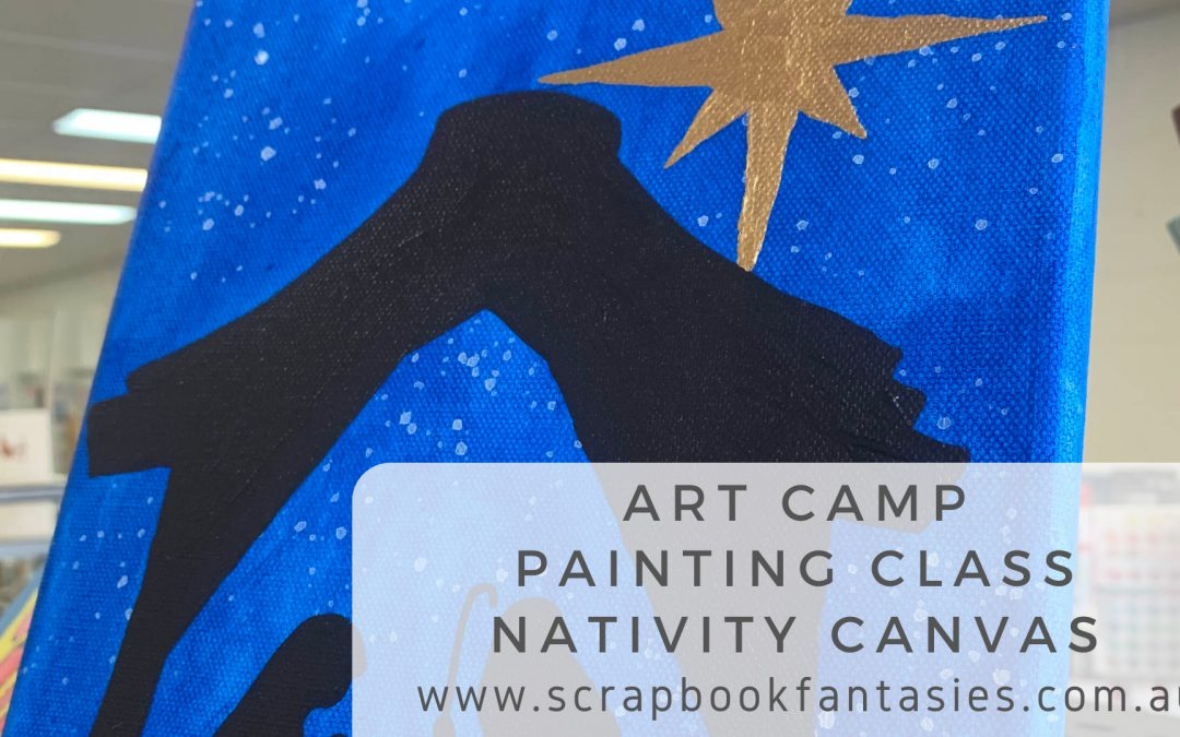 Art Camp Painting Class – Nativity Canvas (Special Holiday Price)