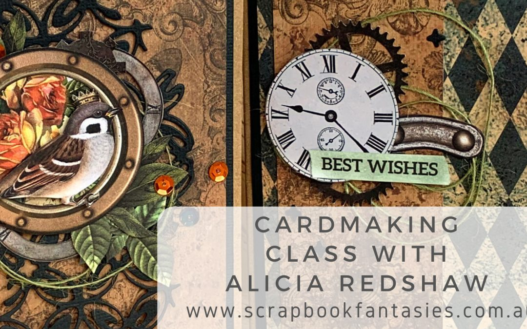 ScrapBoys Industrial Romance Cardmaking Class with Alicia Redshaw