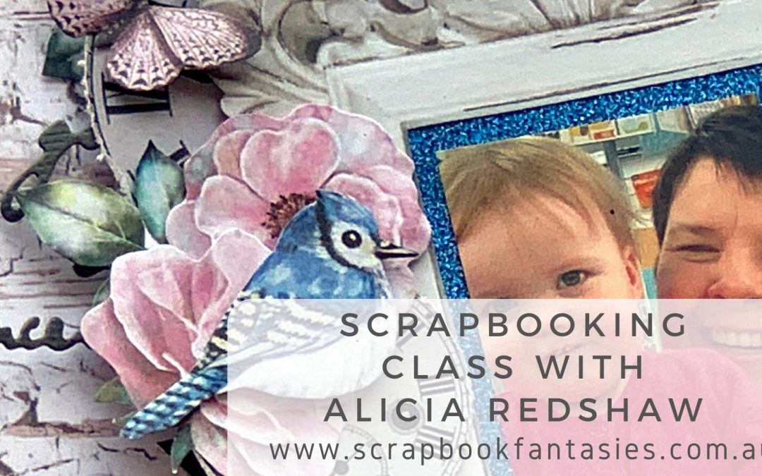 Scrap Boys Dream Garden Scrapbooking Class with Alicia Redshaw