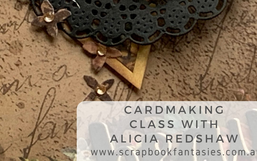 ScrapBoys Industrial Romance Cardmaking Class with Alicia Redshaw $17