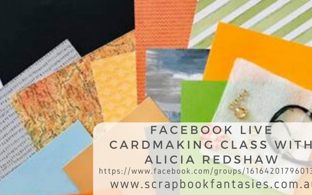 Live Cardmaking Class with Alicia Redshaw FREE